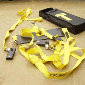 Topclimber Mast Klettersystem: Alle Elemente des Pakets.