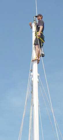 Topclimber Mast Klettersystem: Bootsmannstuhl für jede Masthöhe!