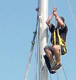 topclimber climbing the mast